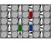 镜头分辨率测试卡TE268锐度测量图像解析卡摄像头检测彩色枯叶图