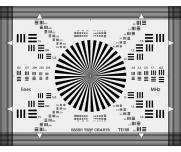 ESSER爱莎镜头焦距测试卡TE100检测后焦距分辨率确认枕形桶形失真