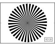 LENS FOCUS TEST CHART (36 SECTOR STAR)