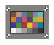 Imatest色彩图像测试卡24色卡匀光玻璃透射卡24色块图卡