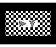 Chessboard test chart checking geometry and resolution.