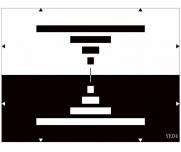 电视摄像机频率传输特性镜像卡分辨率测试卡图