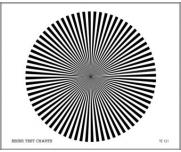 LENS FOCUS TEST CHART (72 SECTOR STAR)